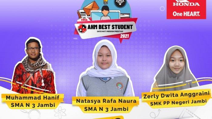 Ini Dia Tiga Pemenang Kompetisi Astra Honda Motor Best Student Regional Jambi