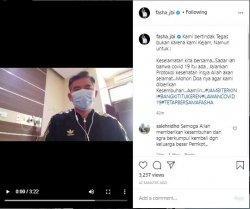 Video Wali Kota Jambi, Sy Fasha saat menyatakan positif Covid-19