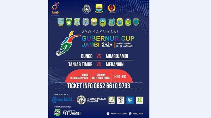 BREAKING NEWS Jadwal Pertandingan Gubernur Cup 2020 15-16 Januari 2020, Empat Laga Panas