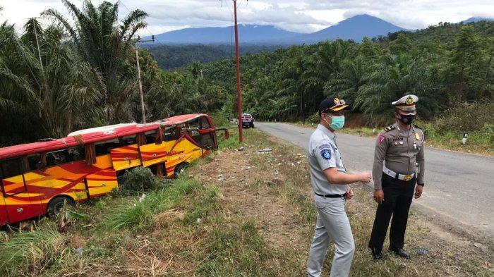 Jasa Raharja Muaro Bungo Respon Cepat Kecelakaan Bus Brimob Polda Sumsel di Kawasan Kerinci