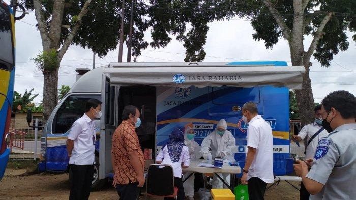 Sejalan dengan program pemerintah pusat, Jasa Raharja Cabang Jambi melaksanakan kegiatan Pelayanan Kesehatan Gratis. Kegiatan tersebut dilakukan di Perum Damri, Kamis (25/3) lalu.