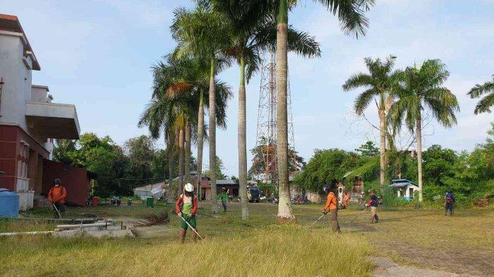 Jelang Hari Jadi Kota Jambi, Pegawai Pemkot dan DPRD Kota Jambi Gotong Royong Bersihkan Hotel