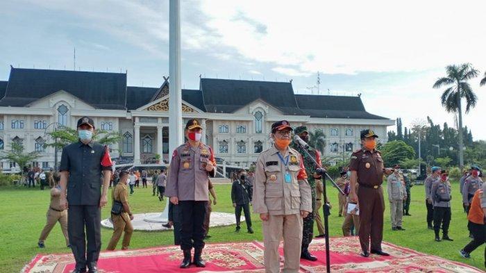 Jelang New Normal, Kapolda Bersama Gubernur dan Danrem 042/Gapu Apel Pasukan