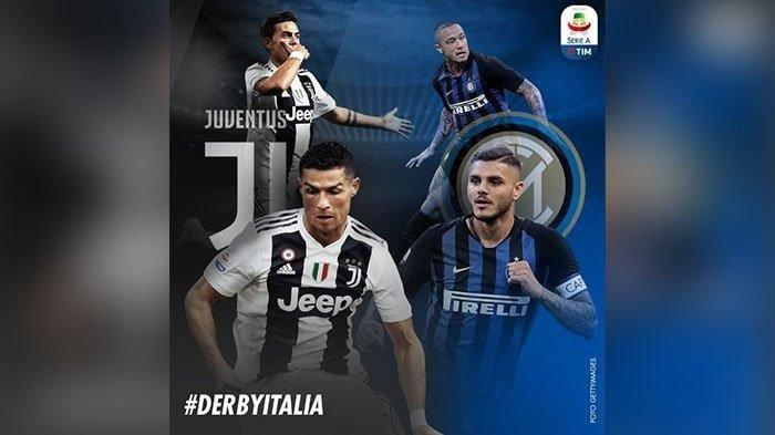 Jadwal Pertandingan Hari Ini, Juventus vs Inter Milan Live Streaming Mola TV ICC 2019 Sore Hari