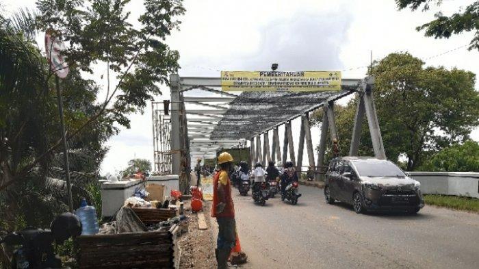Perbaikan Tiang Jembatan Batanghari I Terkendala Tingginya Muka Air Sungai Batanghari