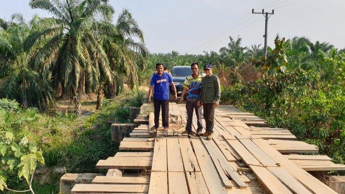 Jembatan Desa Sungai Dayo Bahar Utara Sempat Dikeluhkan Warga, Kini Sudah Rampung Diperbaiki