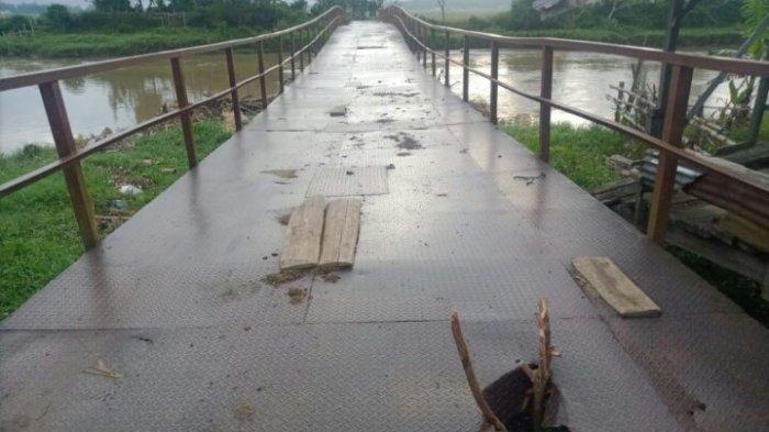 Jembatan Tanjung Pauh Kabupaten Kerinci Memprihatinkan, Begini Kondisinya