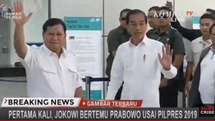Nama Ketua FPI Habib Rizieq Shihab Tidak Menjadi Pembahasan Pertemuan Jokowi dan Prabowo