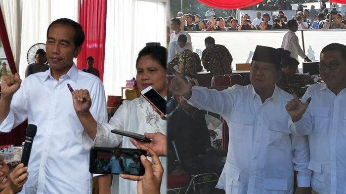 Jokowi Didampingi Iriana, Prabowo Bersama Fadli Zon, Ini Reaksi Mereka Usai Mencoblos di TPS
