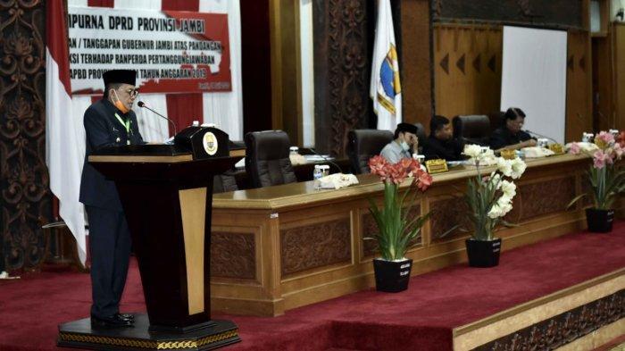 Gubernur Jambi Sampaikan Jawaban Atas Pandangan Fraksi DPRD Provinsi Jambi