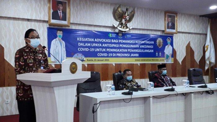 Dinas Kesehatan Provinsi Jambi Gelar Advokasi Covid-19