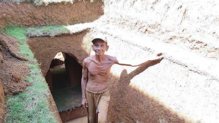 VIRAL Kakek Buat Sendiri Bangunan Bawah Tanah, Dikerjakannya Hampir Dua Tahun Pakai Alat Sederhana