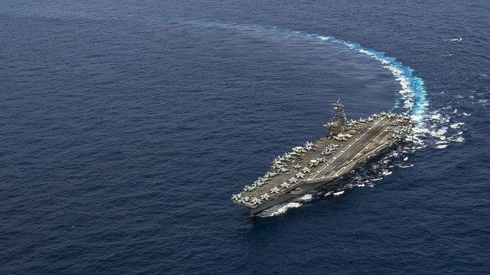 Armada Perang AS Naikkan Tensi Laut China Selatan, Kapal Induk dan Rombongan Hadir Dalam Misi Rutin