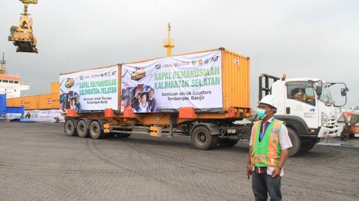 Kapal Kemanusian Bawa 1.000 Ton Logistik Untuk Korban Banjir di Kalimantan Selatan