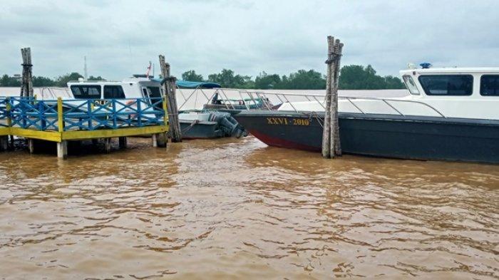 Kapal milik Polair Polres Tanjung Jabung Timur. Anggota Pol Air Polres Tanjung Jabung Timur kembali menggagalkan upaya penyelundupan benih Baby Lobster.