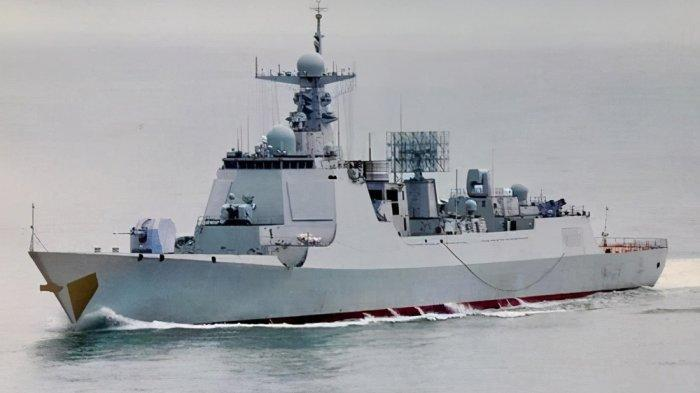 Kapal Perusak Nanning milik China yang baru bergabung dengan armada perangnya