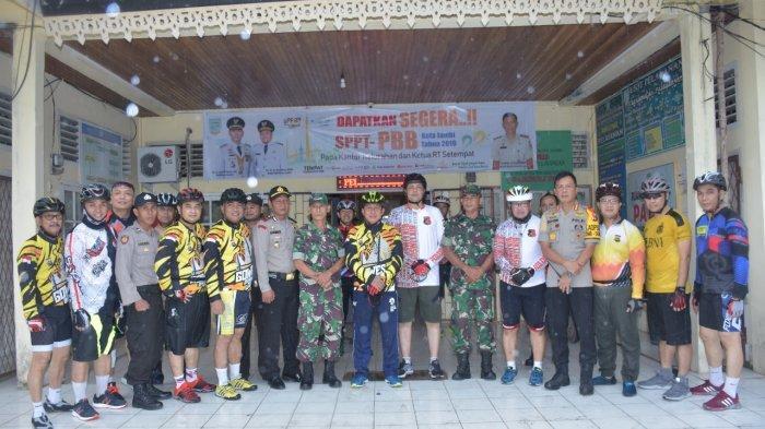 Bersepeda, Kapolda Jambi, Wakapolda Cek Kesiapan Pengamanan Pleno Rekapitulasi Suara Pemilu di PPK
