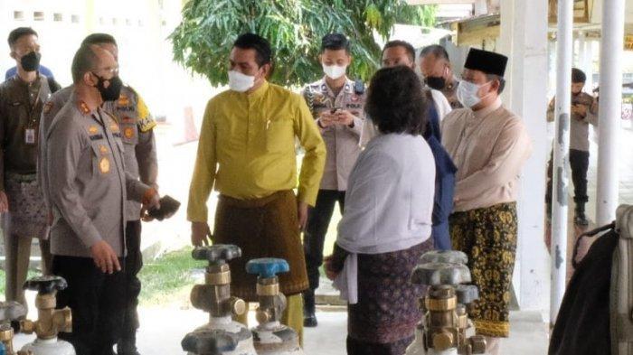 Kapolda Jambi Berkunjung ke Batanghari Tinjau Ketersediaan Oksigen di RSUD Hamba Muara Bulian