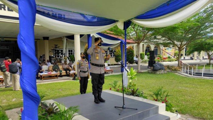 Kapolda Jambi Pimpin Apel Pasukan Operasi Keselamatan Siginjai 2021