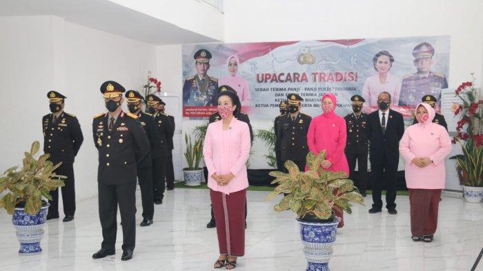 Kapolda Jambi Ikut Tradisi Serah Terima Panji Tribrata dari Idham Azis ke Jenderal Listyo Sigit