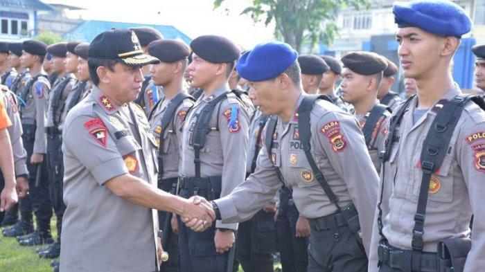 Kapolda Jambi Irjen Muchlis Pimpin Apel Gelar Pasukan Dalam Rangka Operasi Ketupat 2019