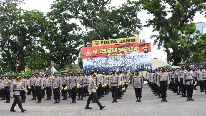 Irjen Pol A Rachmad Wibowo Pimpin Apel Pegeseran Pasukan Personel Polda Jambi