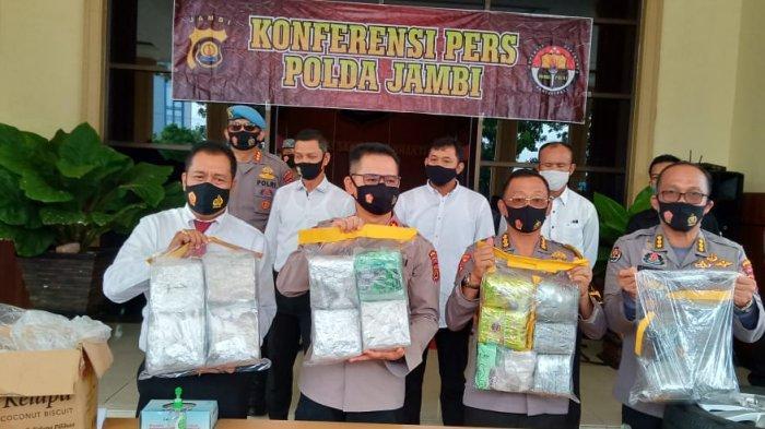 19 Kg Sabu Dari Batam akan Diedarkan di Jambi, Empat Kurir Ditangkap, Ngaku Diupah Rp 20 Juta