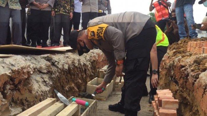 Kapolda Jambi Peletakan Batu Pertama Pembangunan Gedung Mapolres Batanghari, Tinjau Posko Karhutla