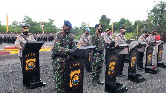 Kapolda Jambi Pimpin Sertijab Lima Pejabat Utama di Mako Batalyon C Tebo