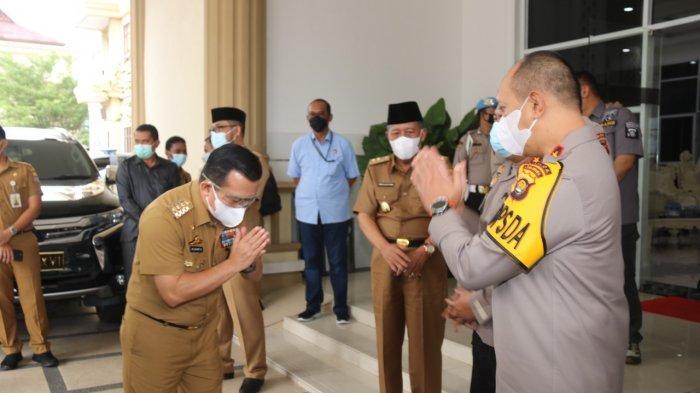 Kapolda Jambi Sambut Kunjungan Gubernur Al Haris dan Wakilnya Abdullah Sani