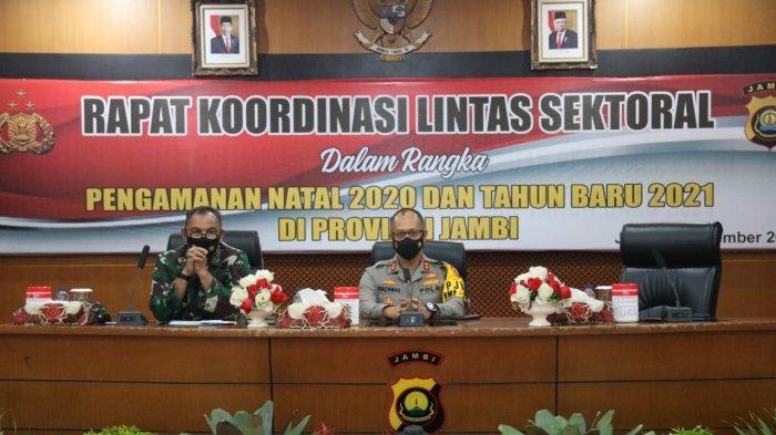 Kapolda Jambi Buka Rapat Kordinasi Lintas Sektoral Dalam Rangka Operasi Lilin Siginjai 2020