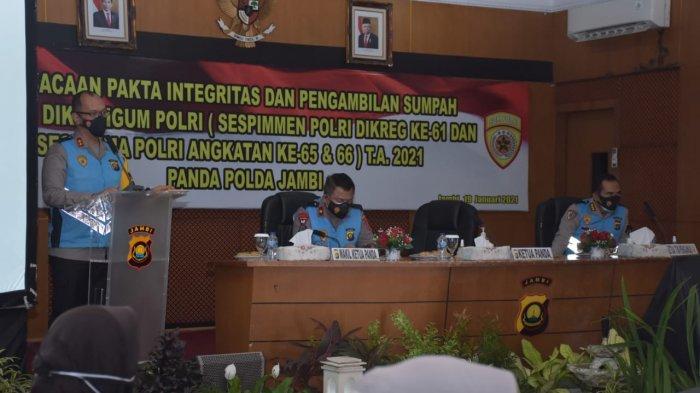 Kapolda Jambi Pimpin Sumpah dan Tanda Tangan Fakta Integritas Dikbangum Sespimmen dan Sespimma