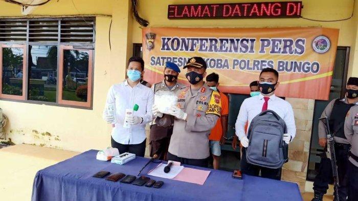 Dua Warga Aceh dan Satu Warga Bungo Diamankan Polres Bungo, Tersangka Sempat Loncat dari Mobil