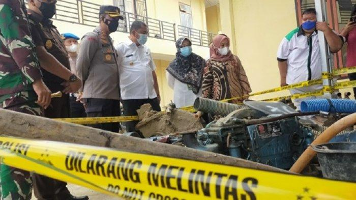 Ratusan Dompeng PETI di Kecamatan Bathin II Babeko Dimusnahkan Polres Bungo
