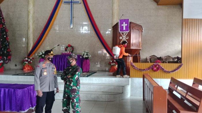 Kapolres Bungo bersama Komandan Kodim 0416/ Bungo Tebo sosialisasikan protokol kesehatan.