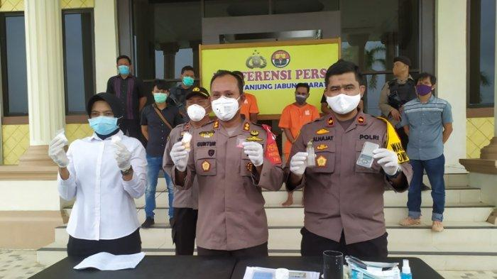 BREAKING NEWS Polres Tanjabbar Tangkap Dua Bandar Narkoba Jaringan Pulau Pandan Jambi