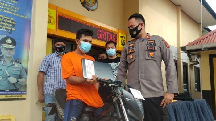 Ketagihan Sabu, Pelaku Gabung Spesialis Jambret Kota Jambi, Diringkus Polisi Saat Sedang Beraksi