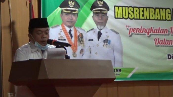 Musrembang RKPD di Merangin Via Video Conference Bersama Kepala OPD dan Camat