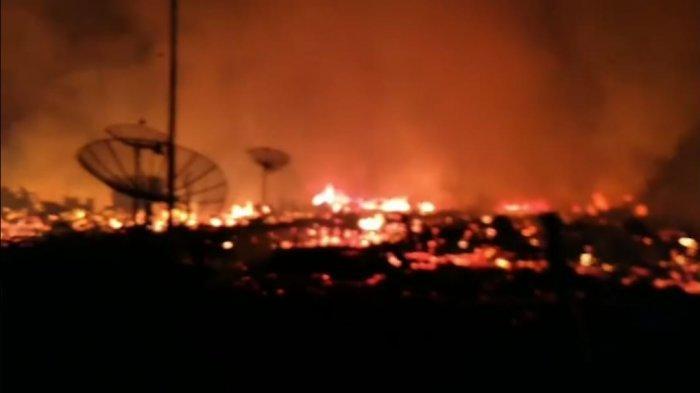 Api Berkobar di Mendahara, Puluhan Rumah Hangus Terbakar