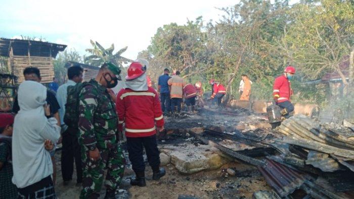 Kebakaran di Kota Jambi, Marchel Teriak Minta Tolong, Nahas Rumahnya Rata dengan Tanah