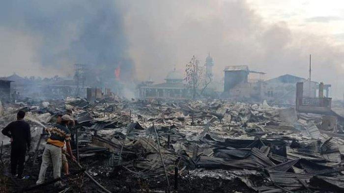 Pasca Kebakaran di Menteng, Sebuah Masjid Masih Berdiri Kokoh Meski Sempat Dikepung Lautan Api