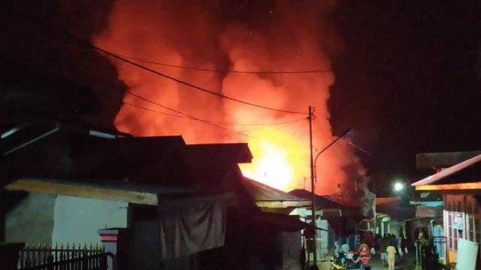 29 Jiwa Kehilangan Tempat Tinggal Setelah Kebakaran Hebat di Kerinci
