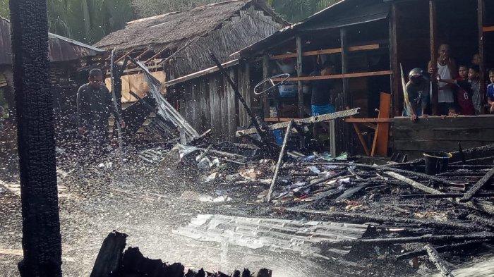 Warga Mendahara Diterpa Bencana, Selasa Sore Satu Unit Rumah Ludes Dilalap Si Jago Merah