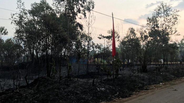 Kebakaran Lahan Masih Terjadi di Desa Pondok Meja Kecamatan Meston Kabupaten Muarojambi