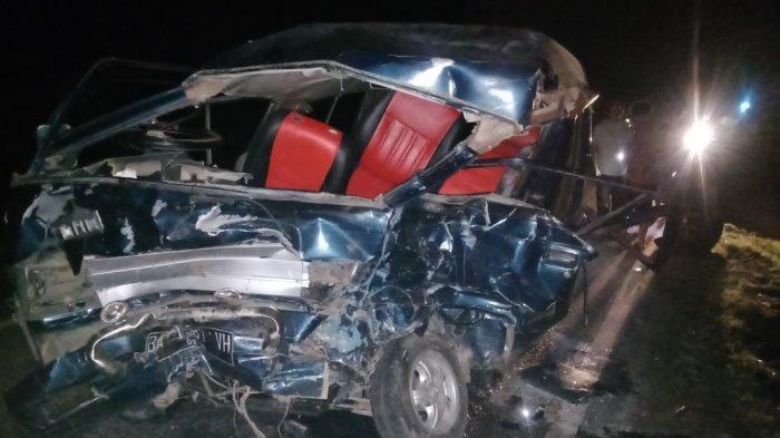 Kecelakaan Bungo, Suzuki Carry Pikap Hantam Nissan Double Cabine, Satu Orang Meninggal di Tempat