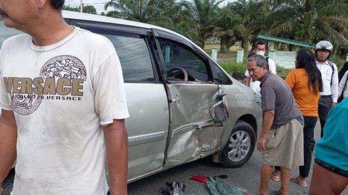 Lagi-lagi Kecelakaan Terjadi di Jalan Lintas Tebo-Bungo, Satu Pengendara Motor Dilarikan ke RS