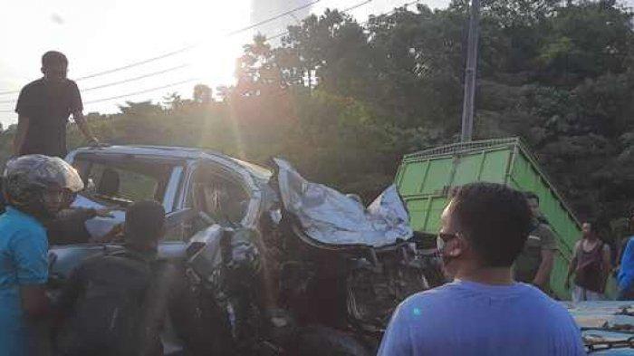Kecelakaan maut tak terhindarkan terjadi di Jalan Lintas Sumatera dari Kabupaten Bungo menuju Kota Jambi terjadi, Rabu (11/11/2020).