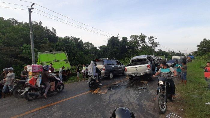 Kronologi Kecelakaan Maut di Bungo, Pick Up dari Jambi Melaju Kencang, Sopir Tronton Tak Sempat Elak
