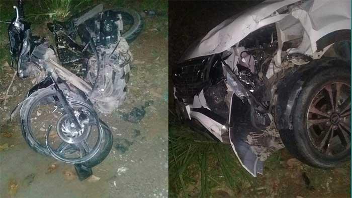 BREAKING NEWS: Tabrakan Motor vs Mobil di Merangin, Satu Orang Warga Tabir Tewas Di Tempat