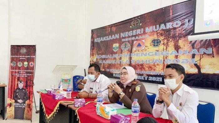 Cegah Karhutla, Kejari Muaro Jambi Sosialisasikan Tindakan Pencegahan Kebakaran